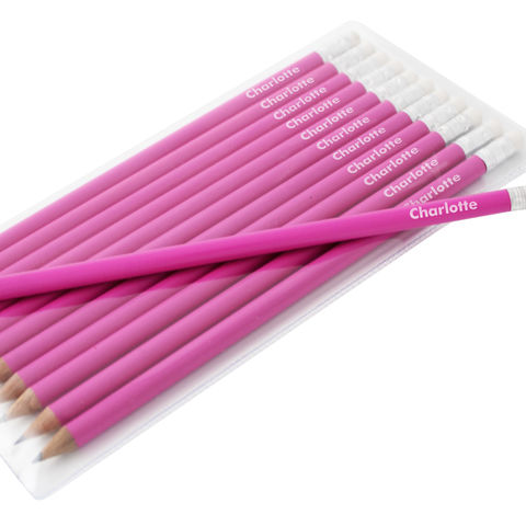Name,Only,Pink,Pencils,Name Only Pink Pencils, personalised pencils, personalised pink pencils, Girls personalised pencils