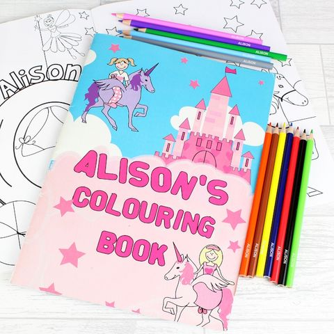 Princess,Colouring,Set,Princess Colouring Set,colouring set,kids colouring set,personalised colouring books