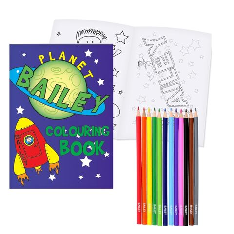 Space,Colouring,Set,Space Colouring Set,kids colouring set,childs colouring set,personalised colouring set