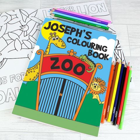 Zoo,Colouring,Set,Zoo Colouring Set,Children Gift Ideas,Baby Gift Ideas,Children Keepsakes,Baby Keepsakes,Personalised Baby Gifts,Personalised Childrens Gifts