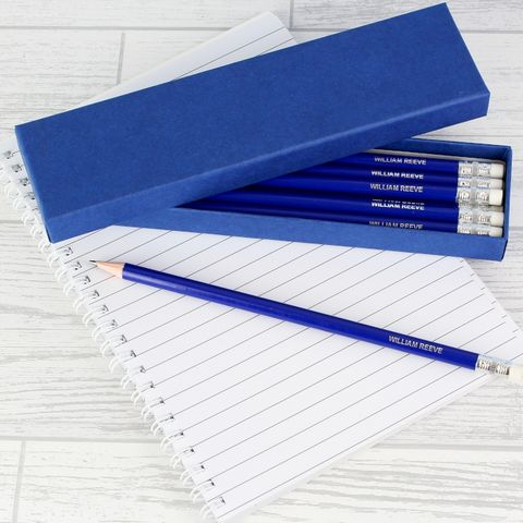 Box,of,Blue,Pencils,Box of Blue Pencils, Pencils,Personalised Pencils