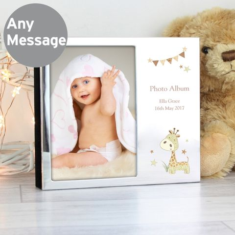 Personalised,Hessian,Giraffe,Photo,Frame,Album,6x4,Personalised Hessian Giraffe Photo Frame Album 6x4,photo frame,childrens photo frame,personalised photo frame