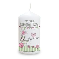 Pram,Bunting,Naming,Candle,pram bunting naming candle,candle,candles,keepsake candles,candles in organza bag