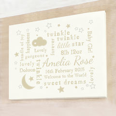 Twinkle,Typography,Landscape,Canvas,Twinkle Twinkle Typography Landscape Canvas,Children Gift Ideas,Baby Gift Ideas,Children Keepsakes,Baby Keepsakes,Personalised Baby Gifts,Personalised Childrens Gifts