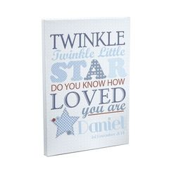 Twinkle,Boys,Canvas,Twinke Boys Canvas,medium canvas,boys canvas,personalised canvas