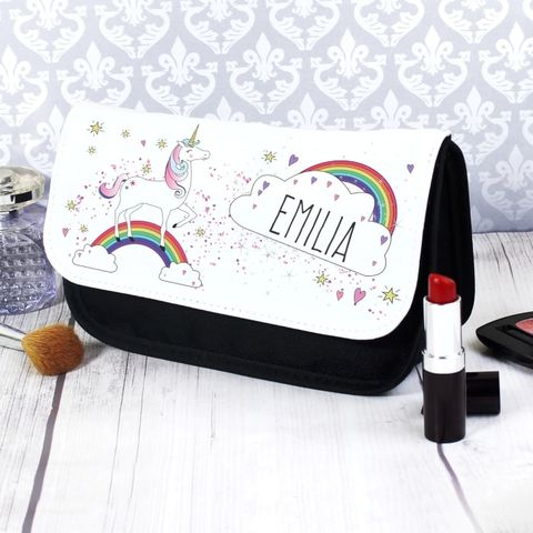 Personalised,Unicorn,Make,Up,Bag,Personalised Unicorn Make Up Bag,Unicorn Make Up Bag,Personalissed Make Up Bag