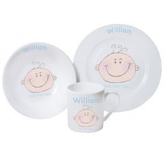 Baby,Boy,Breakfast,Set,Baby Boy Breakfast Set,childs breakfast set,personalised breakfast set