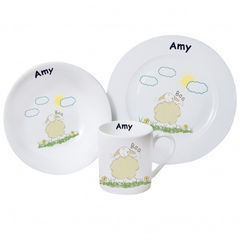 Baa,Breakfast,set,Baa Breakfast set,personalised breakfast set,childs breakfast set,childrens breakfast set