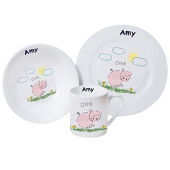 Oink,Breakfast,Set,Oink Breakfast Set,childs breakfast sets,personalised breakfasts sets