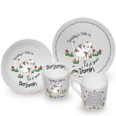 Tuesdays,Child,Breakfast,Set,Tuesdays Child Breakfast Set,childs breakfast set,personalised breakfast gift set.
