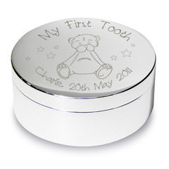 Teddy,My,First,Tooth,Trinket,Teddy My First Tooth Trinket,trinket box,personalised trinket box,first tooth box,tooth box