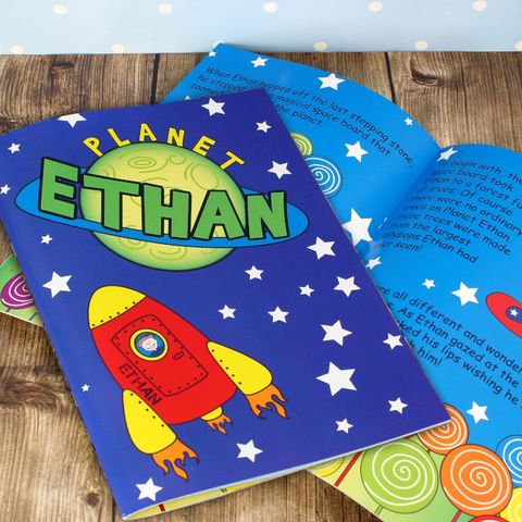 Space,Story,Book,childs story book,personalised boys story book,space story book