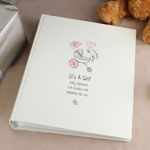 Personalised,Whimsical,Pram,Album,with,Sleeves,Personalised Whimsical Pram Album with Sleeves