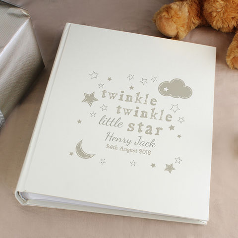 Personalised,Twinkle,Album,with,Sleeves,Personalised Twinkle Twinkle Album with Sleeves,Childrens Personalised Photo Album, Personalised Photo Album