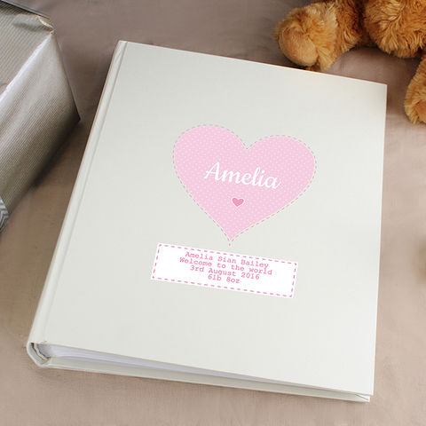 Personalised,Stitch,&,Dot,Girls,Album,with,Sleeves,Personalised Stitch & Dot Girls Album with Sleeves,Childrens Photo Album,Personalised Photo Album