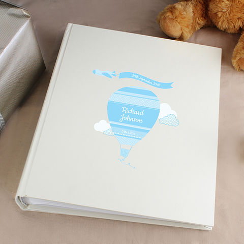 Personalised,Up,&,Away,Boys,Album,with,Sleeves,Personalised Up & Away Boys Album with Sleeves,Personalised Photo Album, Childrens Photo Album