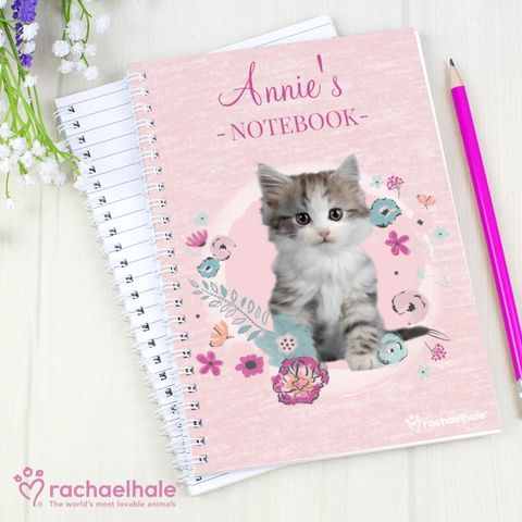 Personalised,Rachael,Hale,Cute,Kitten,A5,Notebook,Personalised Rachael Hale Cute Kitten A5 Notebook,Rachael Hale Notebooks,Rachael Hale Girls Notebooks,Personalised Notebooks