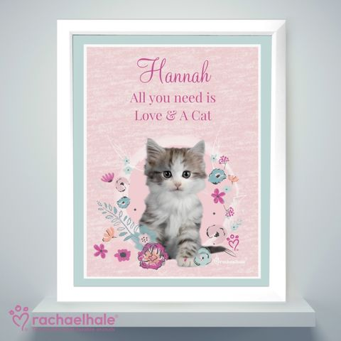 Personalised,Rachael,Hale,Cute,Kitten,White,Framed,Poster,Print,Poster Prints, Framed Prints, Personalised Rachael Hale Cute Kitten White Framed Poster Print,Rachael Hale Poster Frame,Girls Poster Framed