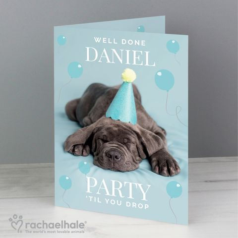 Personalised,Rachael,Hale,'Party,'Til,You,Drop',Card,Personalised Rachael Hale Card,Rachael Hale Greeting Cards,Personalised Greeting Cards