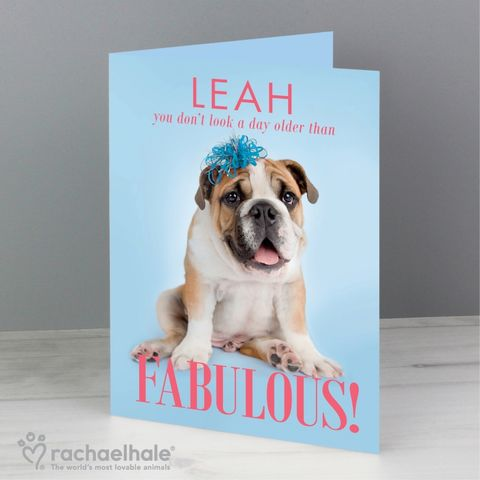 Personalised,Rachael,Hale,Fabulous,Birthday,Card,Rachael Hale Greeting Cards,Greeting Cards,Persoanlised Greeting Cards
