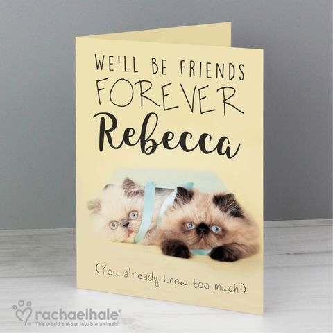 Personalised,Rachael,Hale,Friends,Forever,Card,Rachael Hale Greeting Cards,Personalised Greeting Cards
