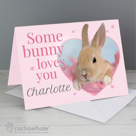 Personalised,Rachael,Hale,'Some,Bunny',Card,Rachael Hale Cards,Greeting Cards,Personalised Greeting Cards,Animal Greeting Cards,Personalised Animal Greeting Cards