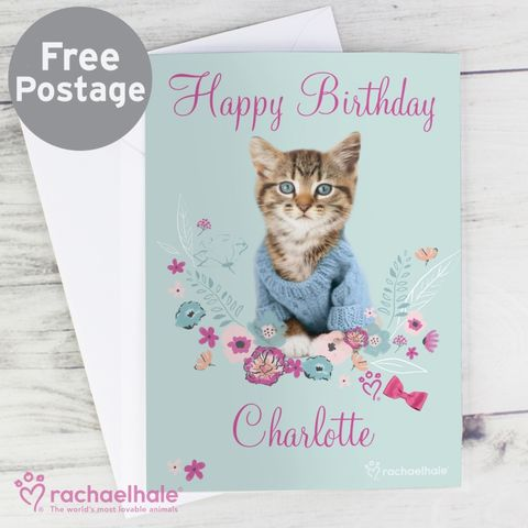 Personalised,Rachael,Hale,Cute,Kitten,Card,Greeting Cards, Personalised Rachael Hale Cute Kitten Card,Personalised Animal Cards,Personalised Kitten Card,Greeting Card,Birthday Card