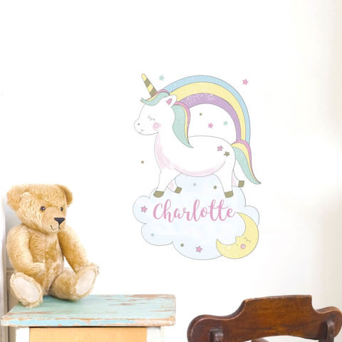 Personalised,Baby,Unicorn,Wall,Art,Baby Unicorn Wall Art