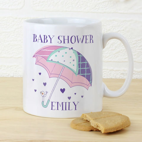 Personalised,Baby,Shower,Umbrella,Mug,Mugs, Personalised Baby Shower Umbrella Mug,Baby Shower Gifts,Baby Shower Mug