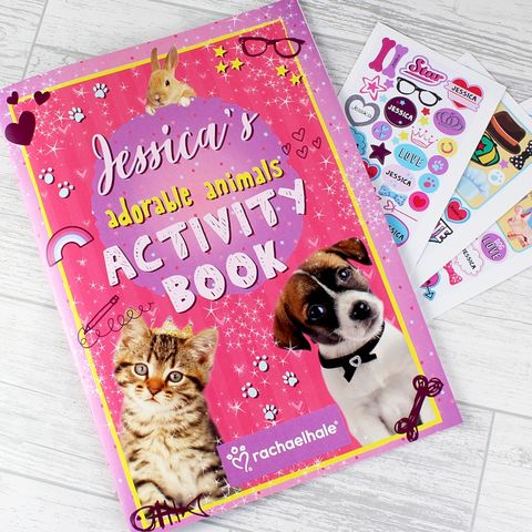 Personalised,Rachael,Hale,Adorable,Animals,Activity,Book,With,Stickers,Rachael Hale Gift Ideas,Personalised Rachael Hale Adorable Animals Activity Book With Stickers,Animal Sticker Books, Rachael Hale Gifts