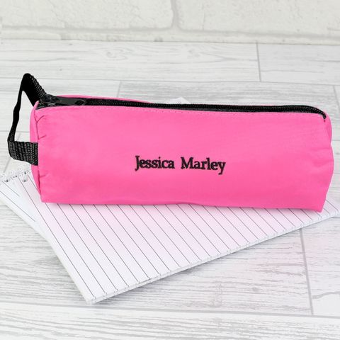 Pink,Pencil,Case,Pink Pencil Case,personalised pink pencil case,childs pink pencil case,childrens pink pencil case