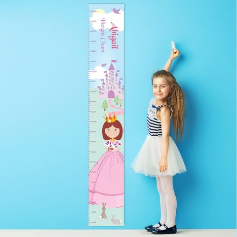 Fairy,Tale,Princess,Height,Chart,Fairy Tale Princess Height Chart,height chart,personalised height chart,personalised girls height chart