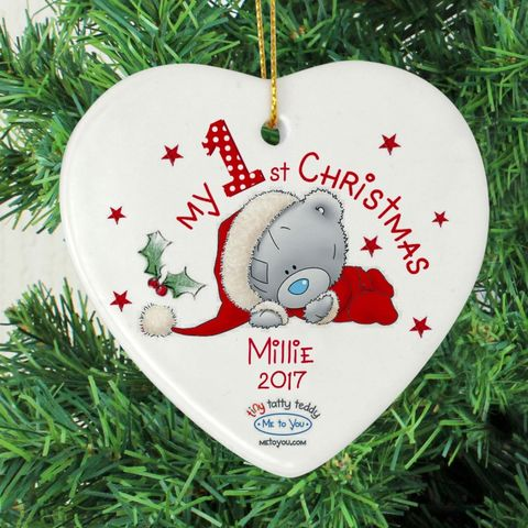 Me,to,You,My,1st,Christmas,Ceramic,Heart,Decoration,Me to You My 1st Christmas Ceramic Heart Decoration