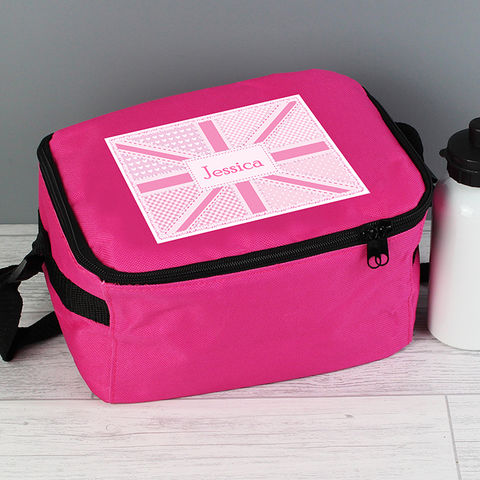 Pink,Patchwork,Union,Jack,Lunch,Bag,Pink Patchwork Union Jack Lunch Bag