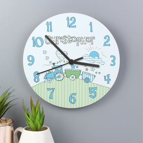 Whimsical,Train,Clock,Whimsical Train Clock