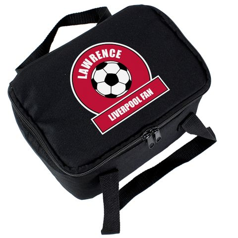 Red,Football,Fan,Lunch,Bag, Red Football Fan Lunch Bag