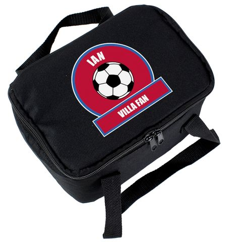 Claret,and,Blue,Football,Fan,Lunch,Bag,Claret and Blue Football Fan Lunch Bag