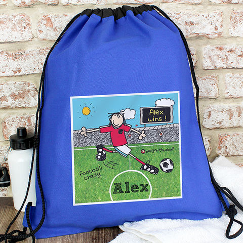 Bang,On,The,Door,Football,Crazy,kit,bag,Bang On The Door Football Crazy kit bag,Kit Bag,Swimming Bag,Childs Bag,Childrens Kit Bag