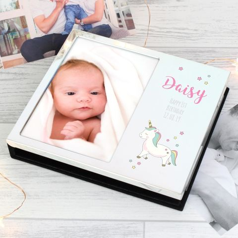 Personalised,Baby,Unicorn,Frame,Album,4x6,Baby Unicorn Frame Album 4x6