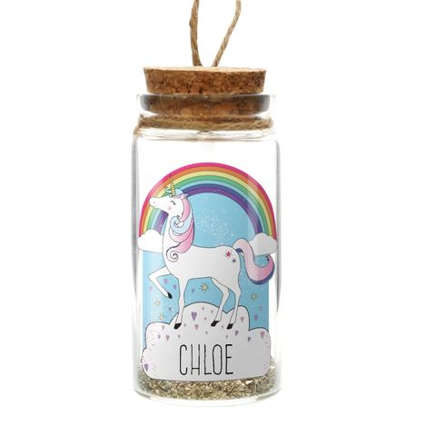 Personalised,Unicorn,Glitter,Message,in,a,Bottle,Unicorn Glitter Message in a Bottle