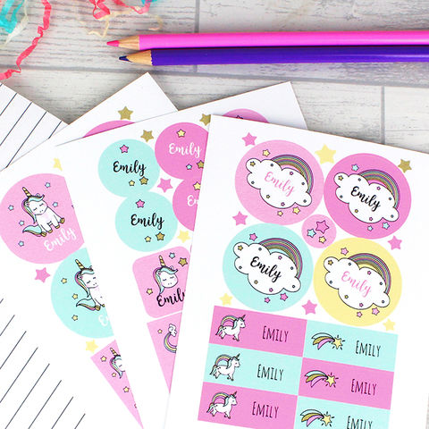 Baby,Unicorn,Sticker,Set,Baby Unicorn Sticker Set