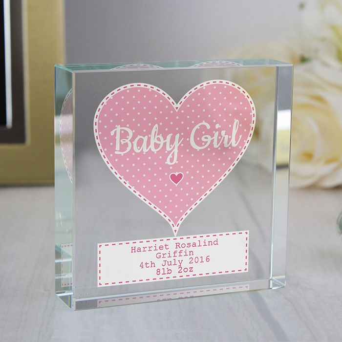 Stitch & Dot Baby Girl Large Crystal Token