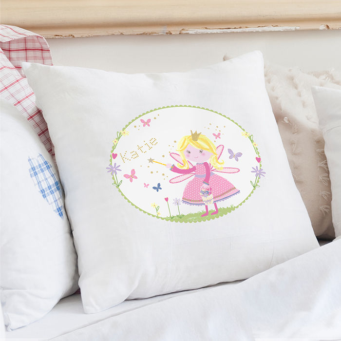 Garden Fairy Cushion Cover personalised gifts for girls