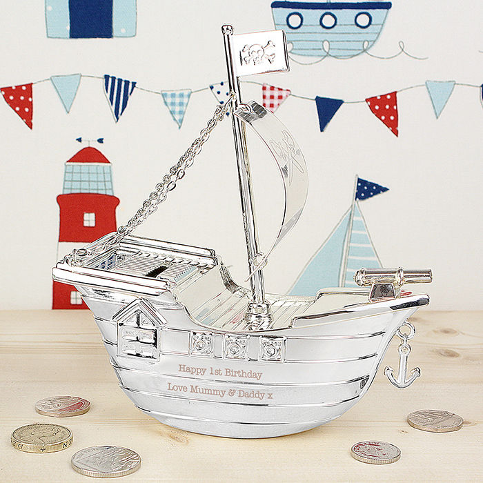 Pirate Ship Money Box