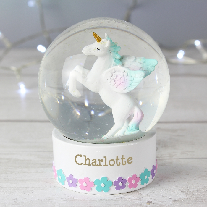 Unicorn Name Snow Globe baby gifts