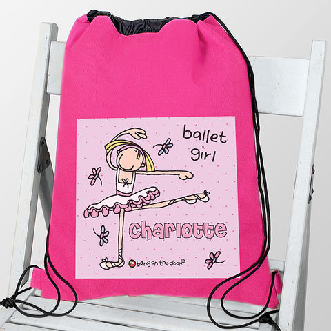 Bang,On,The,Door,Ballet,Dancer,Kit,Bag,kit bag,swim bag,childs kit bag,childs swim bag,bang on the door kit bag