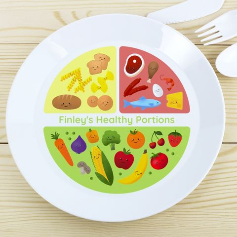 Healthy,Eating,Portions,Plastic,Plate,Healthy Eating Portions Plastic Plate
