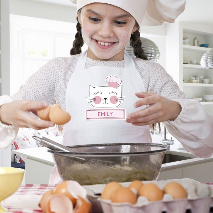 Cat Childrens Apron