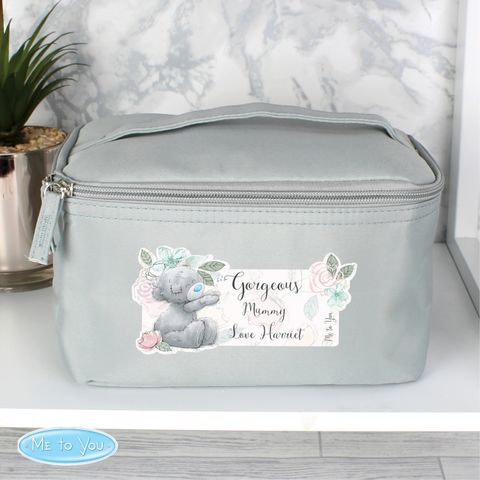 Me,to,You,Floral,Grey,Make,Up,Wash,Bag,Me to You Floral Grey Make Up Wash Bag
