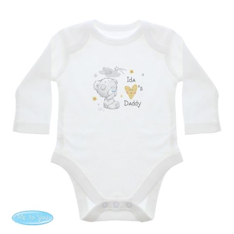 Tiny,Tatty,Teddy,I,Heart,0-3,Months,Long,Sleeved,Baby,Vest,Tiny Tatty Teddy I Heart 0-3 Months Long Sleeved Baby Vest